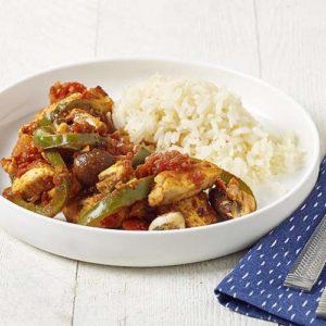 kip met pittige groentensaus recept